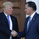donald trump letting media mull on mitt romney 2016 images