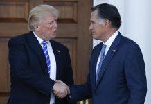 donald trump letting media mull on mitt romney 2016 images