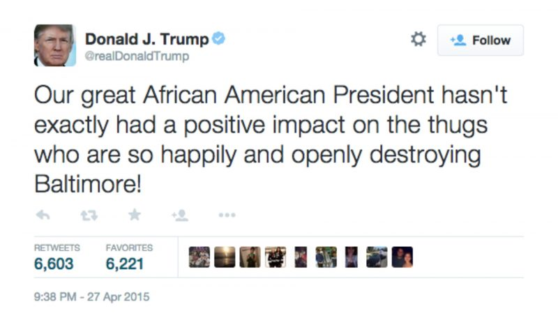 donald trump obama barrack tweet