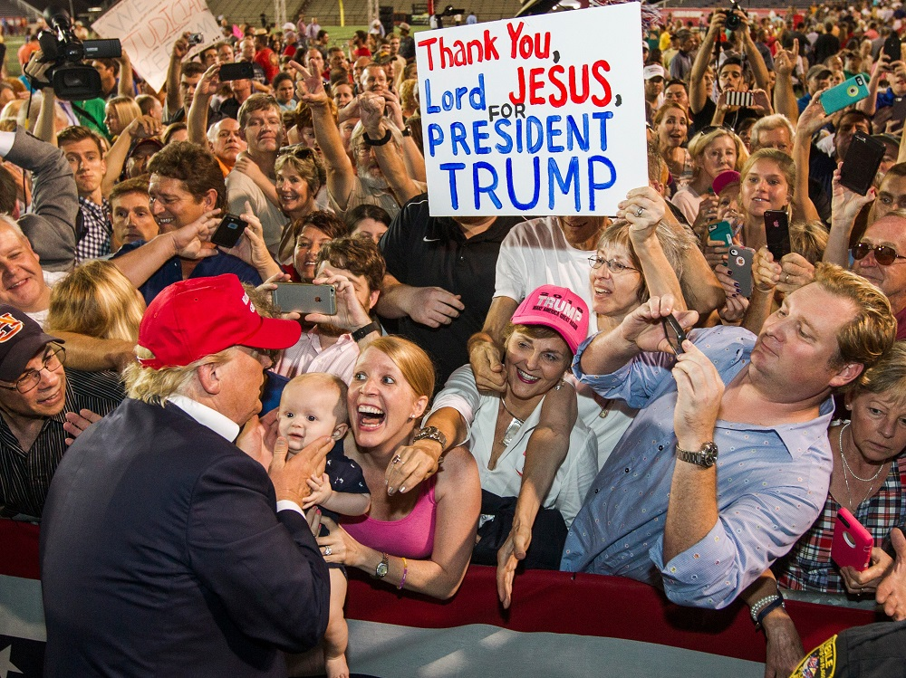 Donald Trump supporters threaten 'in arms' if he loses election 2016 images