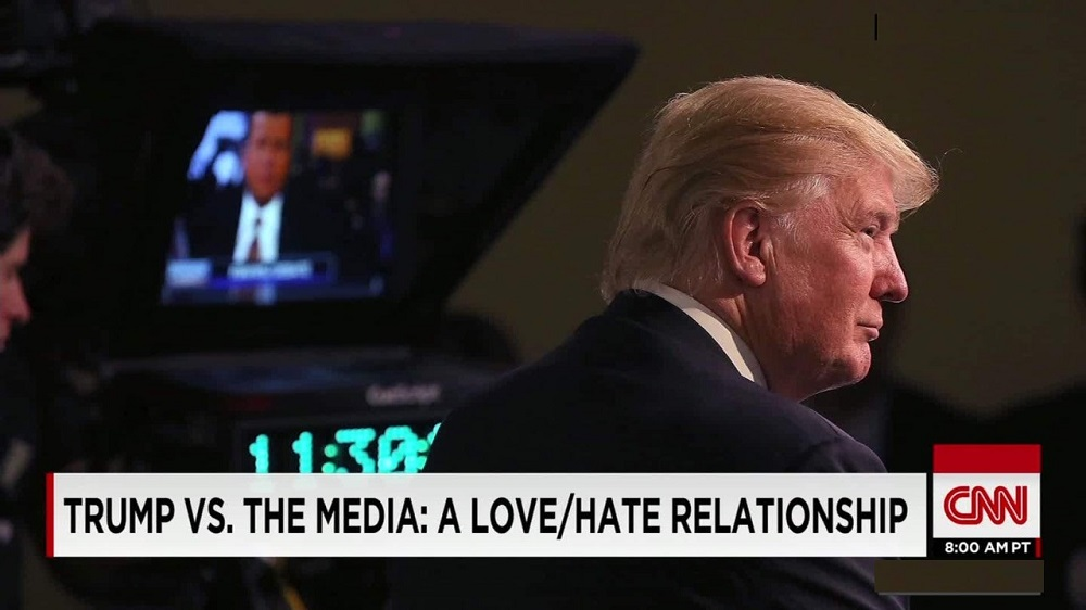 donald trump vs the media 2016 images