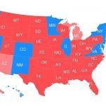 electoral map of usa clinton trump campaign 2016
