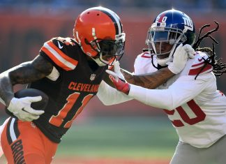 giants janoris jenkins tears into browns terrelle pryor 2016 images
