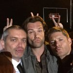 gil darnell with supernatural jared jensen ackles