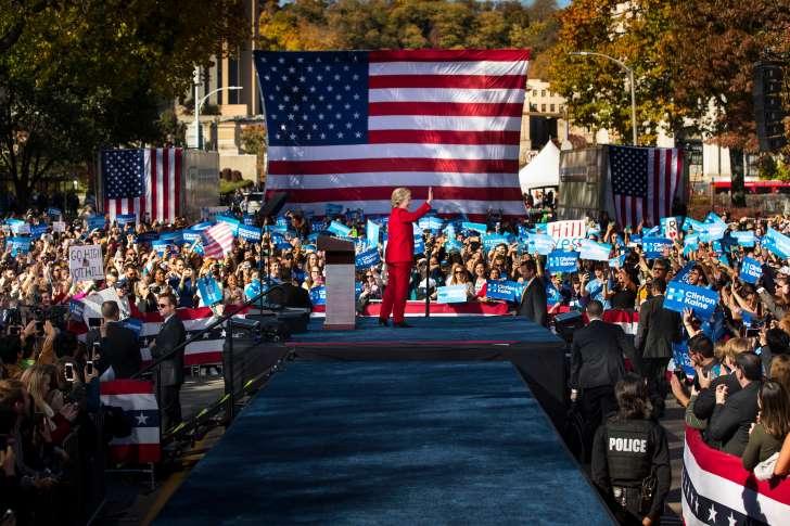 hillary clinton election rally