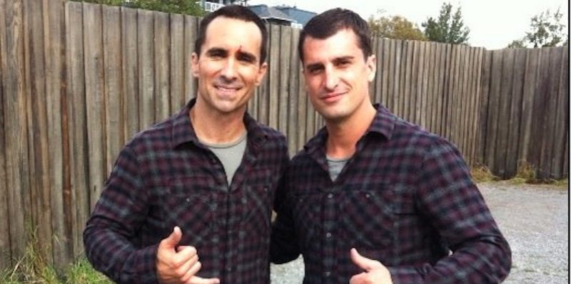 jason bell with nestor carbonell on bates motel