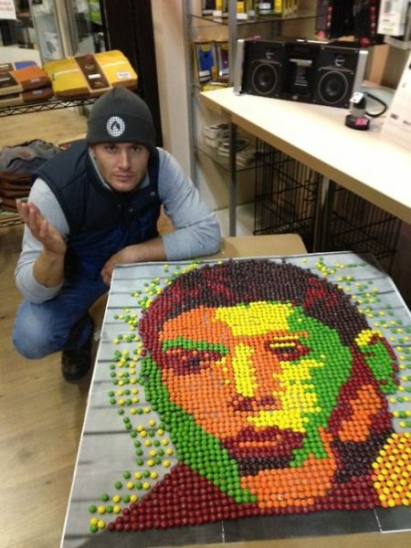 jensen ackles with skittles portrait