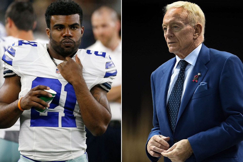 Jerry Jones stands by Ezekiel Elliott domestic violence investigation 2016 images
