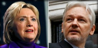 julian assange claims hillary clinton wikileaks not tied to russia 2016 images