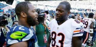 martellus and michael bennet miss out on super bowl xlix rematch 2016 images