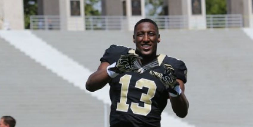 saints michael thomas impressing all except uncle keyshawn johnson 2016 images