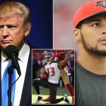 mike evans finds a protest in donald trump