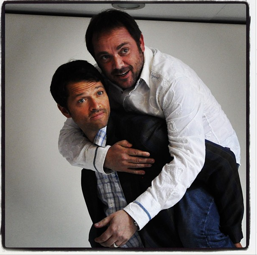 misha collins and mark sheppard