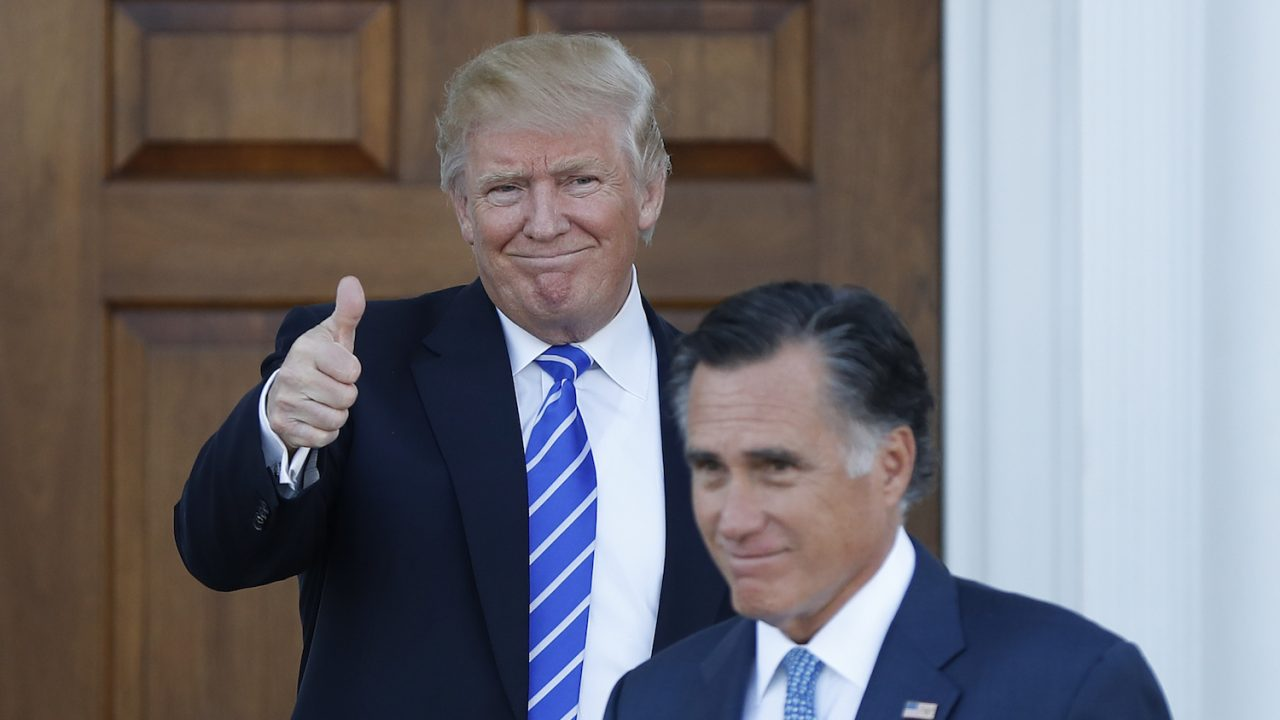 mitt romeny called back for donald trump