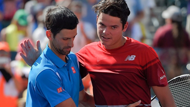 novak djokovic and milos raonic top it out at atp world finals