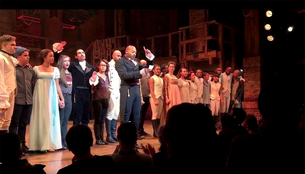 only donald trump offended by hamilton message not mike pence 2016 images