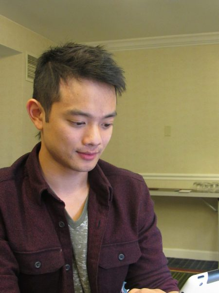 osric chau fixing ipad for movie tv tech geeks interview