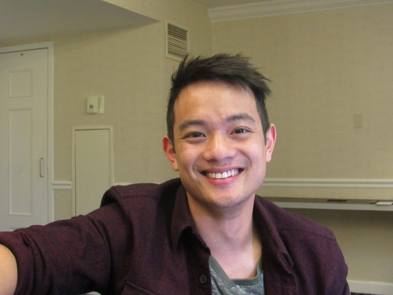 osric chau laugh for movie tv tech geeks interview