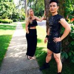 osric chau sexy dress for leo awards movie tv tech geeks