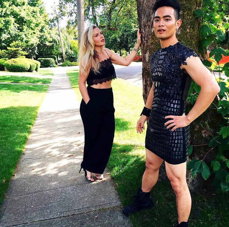 osric chau sexy dress for leo awards movie tv tech geeks