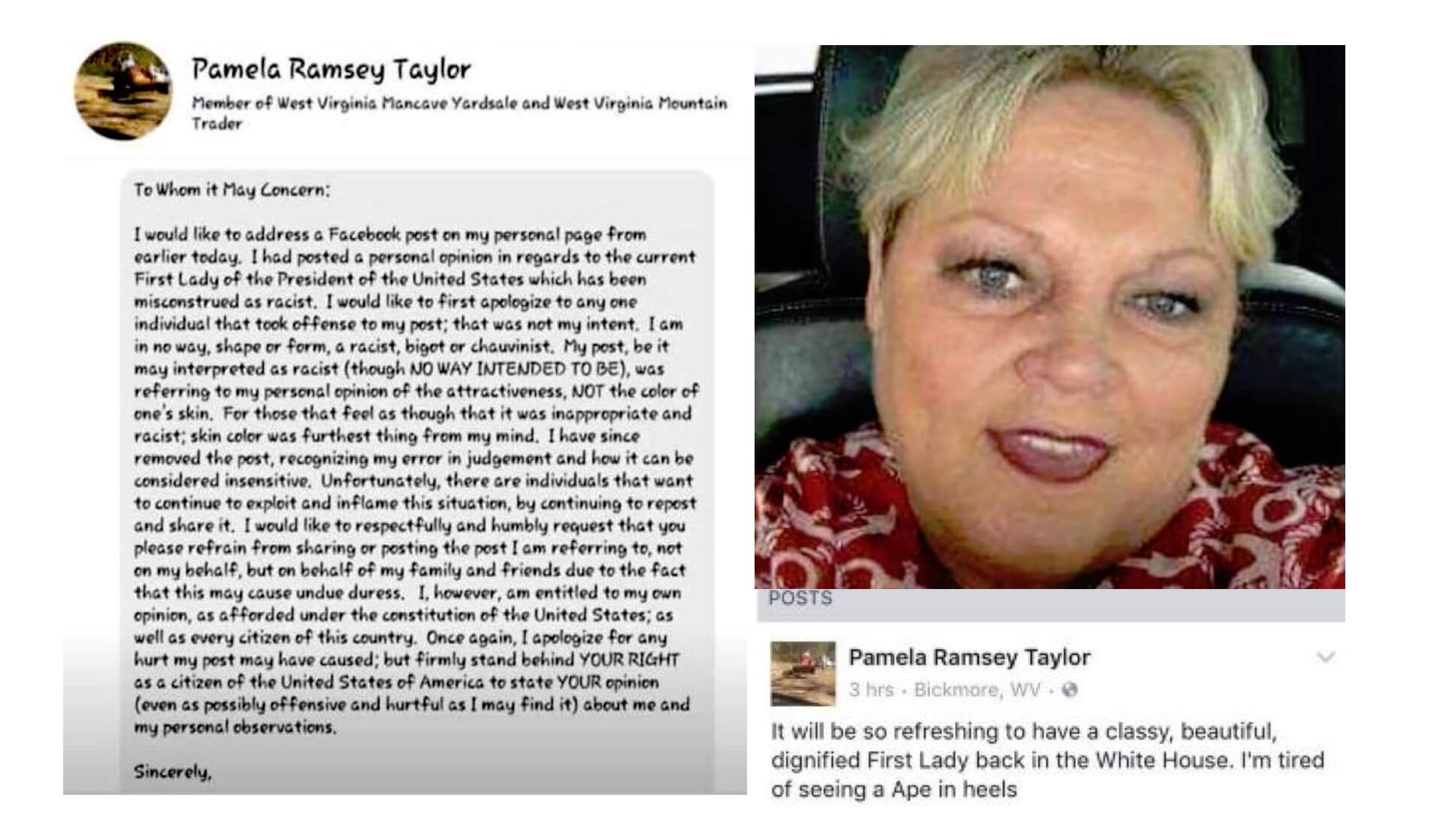 pamela ramsey taylor on michelle obama ape in heels