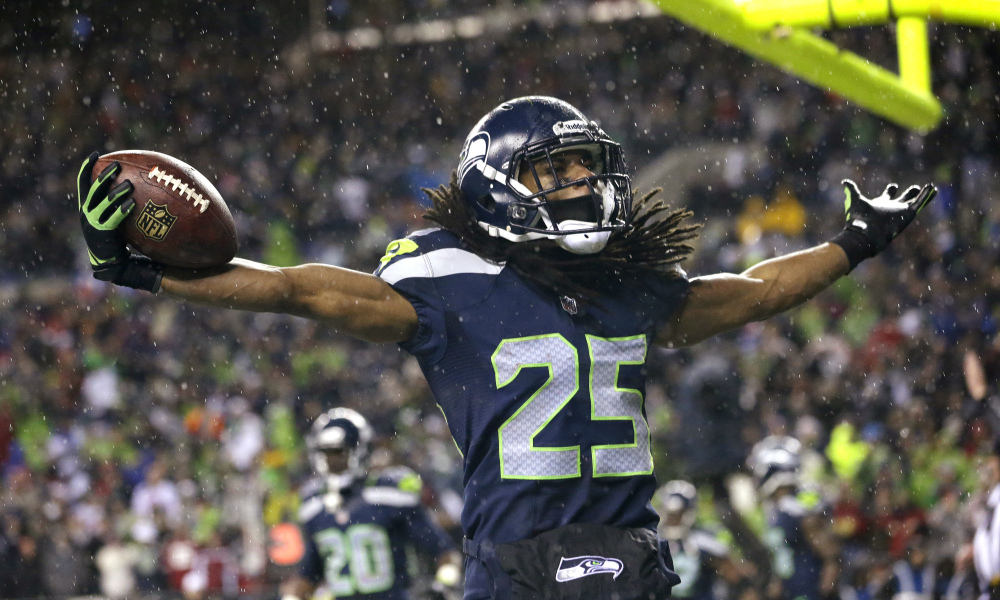 richard sherman blames nfl ratings drop on more than kaepernick 2016 images