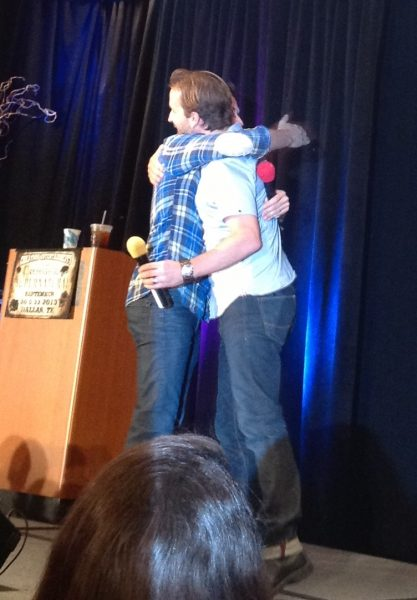 rob benedict and richard spreig movie tv tech geeks hug