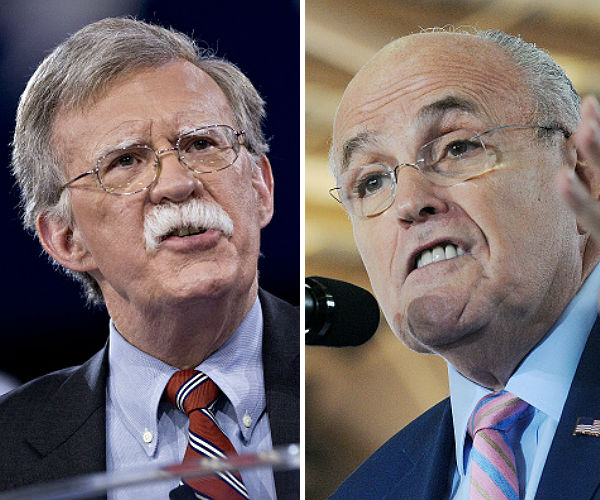 rudy giuliani and john bolton leading for secretary of state