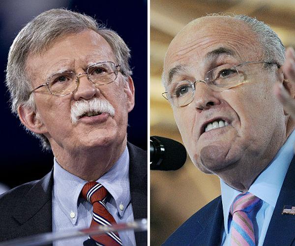 rudy giuliani and john bolton leading for secretary of state