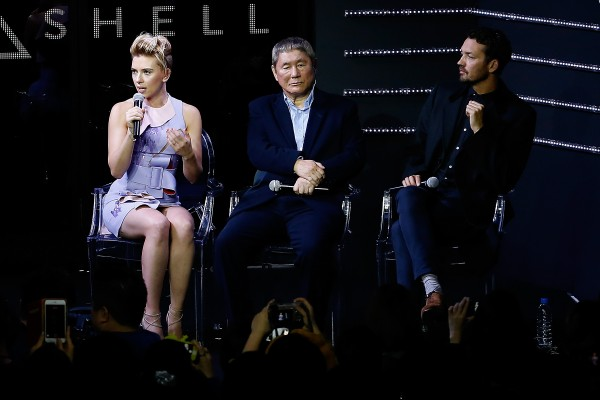 scarlett johansson on ghost in the shell with ruper sanders