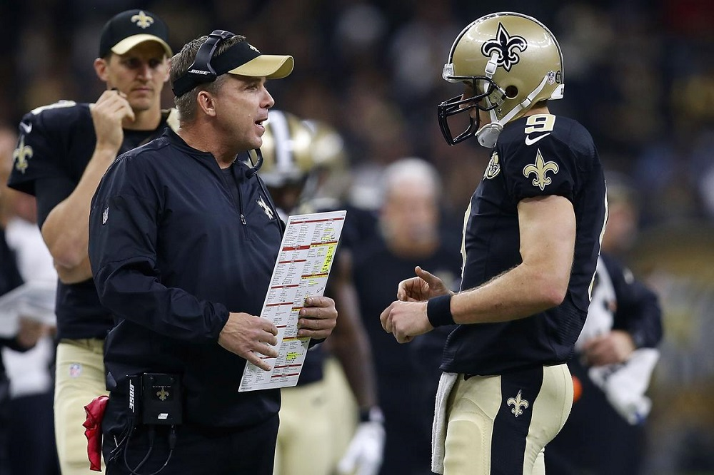 Sean Payton gives it to Gregg Williams 2016 images