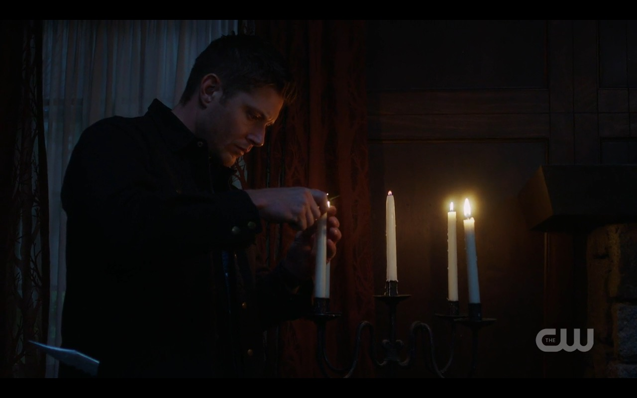 supernatural 1206 serge lighting candles dean winchester