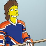 Wayne Gretzky taking on 'The Simpsons'