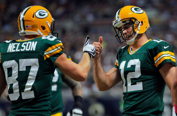 Jordy Nelson and Aaron Rodgers nfl week 16 winners