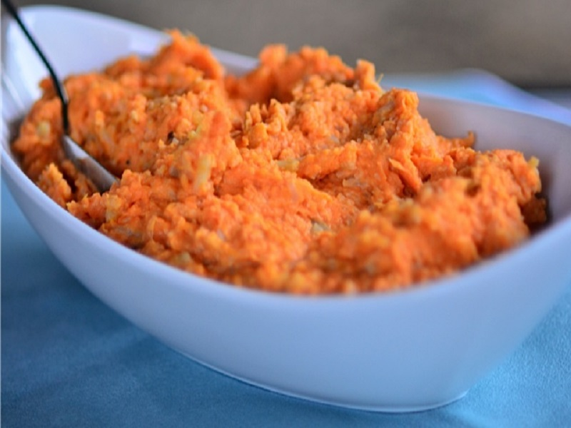 Mashed Sweet Potato and Cauliflower