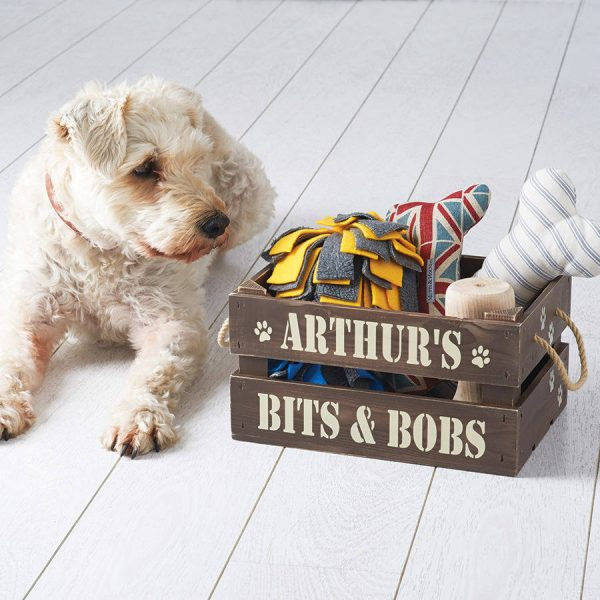 Personalized Pet Treat and Toy Crate