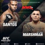 Thiago Santos versus Jack Marshman mma
