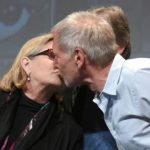 carrie fisher kissing harrison ford