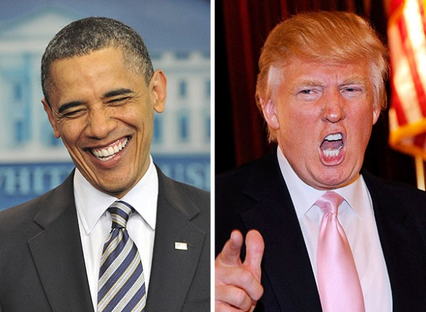 donald trump can't resist knocking barack obama on twitter 2016 images