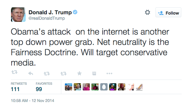 donald trump on net neutrality