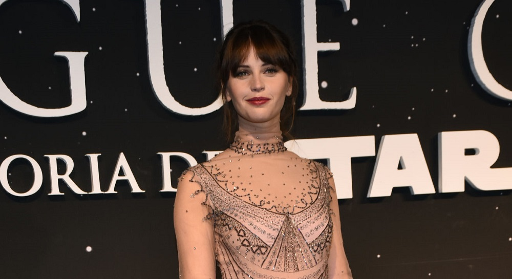 Felicity Jones in good 'Star Wars' company for 'Rogue One' 2016 images