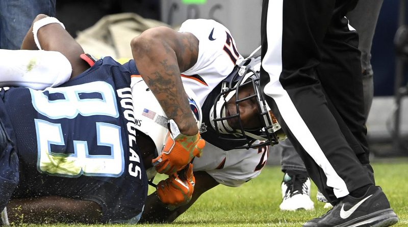 harry douglas slams aqib talib titans