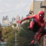 iron man with spider man homecoming flying