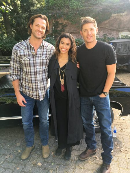 kara royster with jensen ackles supernatural jared padalecki movie tv tech geeks