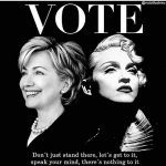madonna vote for hillary clinton
