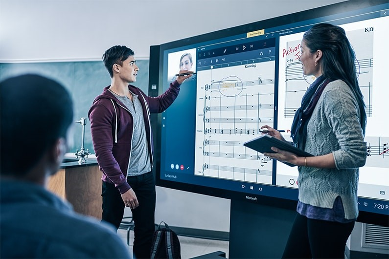 microsoft screen images surface hub