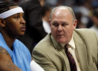 nba with carmelo anthony after george karl take aim in book 2016 images