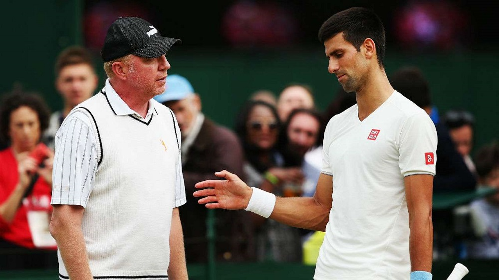 novaj djokovic bids adieu to coach boris becker 2016 images