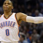 russell westbrook getting charged from lebron james