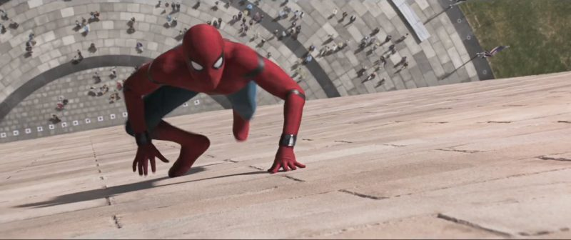 spider man homecoming climbing washington monument